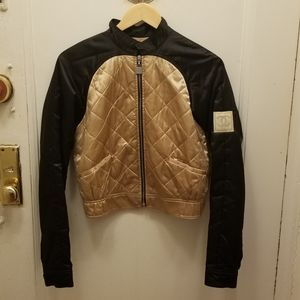 Chanel Quilted Bomber Jacket with CC logos